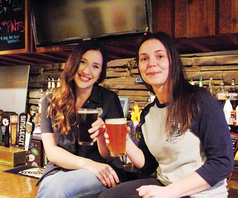 Holly and Lori, our bartenders of the month, from the Ale House